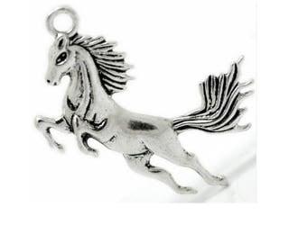 "charm ""5.1 * 4.3 cm"" horse galloping mane (E63)"