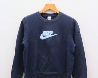 Vintage NIKE Sportswear Big Logo Blue Sweater Sweatshirt Size L