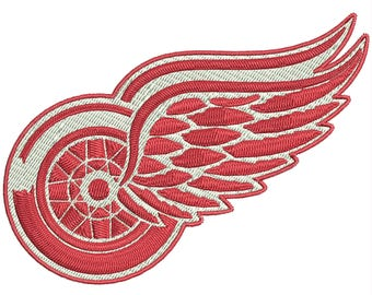 """The Detroit Red Wings a professional ice hockey team logo Embroidery Design 4""""x4"""" and NHL logo 4""""x4"""""""