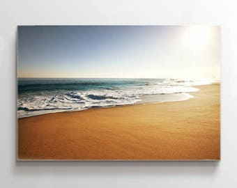 Large Wall Art Canvas Clear Beach with Bright Sunshine