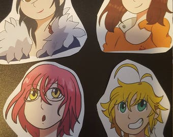 Seven Deadly Sins sticker pack of 4