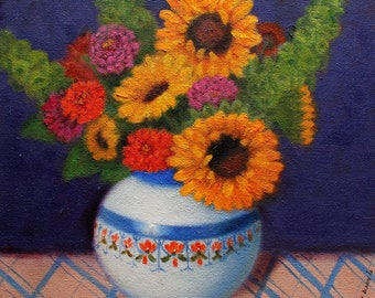 Summer Bouquet oil painting