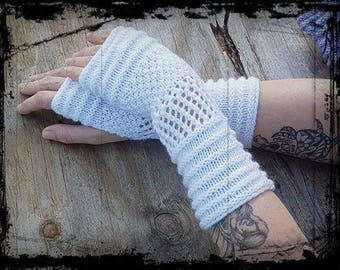 Fingerless gloves in wool or cotton