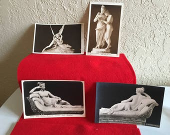 4 Vintage Art Museum Postcards