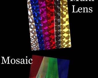 Vinyl Multi Lens and Mosaic-Self Adhesive Permanent-Outdoor Vinyl