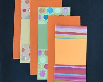 Stripes and Dots Note Cards