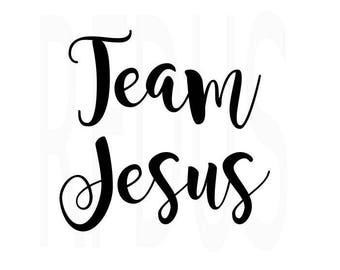 Team Jesus svg, bible svg, cricut cameo cutting file, diy sign, Scripture SVG, jesus svg, svg bible svg, love jesus, god svg, John 3 16 svg
