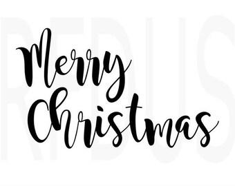Merry Christmas SVG, cricut cutting file, winter svg, Christmas SVG file, Christmas quote, merry and bright svg, diy christmas sign shirt