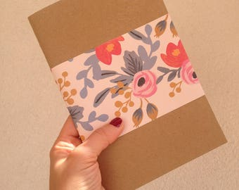 Havana notebook with paper Rifle & Pink Co, White Pages