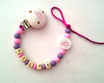 Pacifier little Princess personalized Lilou