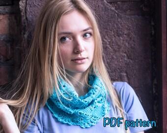crochet scarf pattern crochet neck warmer pattern infinite scarf pattern gift for mom DIY scarf pattern PDF scarf pattern easy cowl pattern