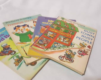 Lot of Richard Scarrys Best Little Books Ever