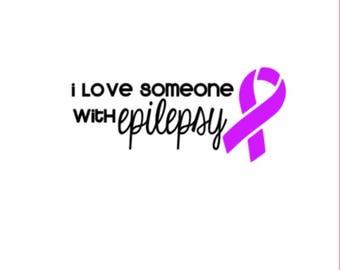 "Love Someone with Epilepsy   5"" Vinyl Decal   Spoonie   Epilepsy Awareness   Seizure Alert"