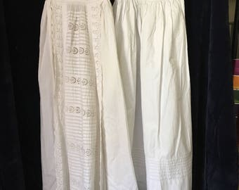 Beautiful Victorian Christening Gown with long pintucked underskirt