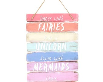 Unicorn Rainbow Plaque