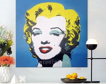 A monroe Lichtenstein Pop Art Andy Warhol acrylic painting on canvas Hand painted Wall Art Picture for living Room home decor