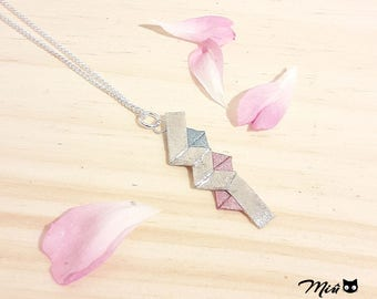 "Necklace with ""Lightning FFXIII"" origami silver [made]"