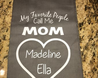 Personalized Flour Sack Dish Towels Hand Towels With Anything You Like Great Mom Gift Can Personalize With Message Saying Old Recipes Etc