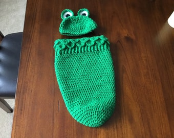 Frog cocoon and hat