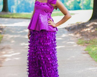 Purple Two Piece Wrapper