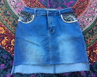 One of a kind bodycon denim skirt