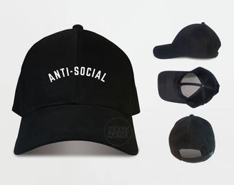 Anti Social Baseball Cap Anti Social Caps Tumblr Caps