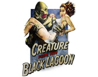 T-SHIRT: Creature from the Black Lagoon / Film Poster - Classic T-Shirt & Ladies Fitted Tee - (LazyCarrot)