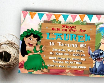 Lilo and Stitch Party, Lilo and Stitch Invitations, Lilo and Stitch Birthday, Lilo and Stitch Birthday Party, Lilo and Stitch Invite