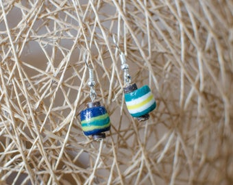 Mismatched Hand-painted Earrings