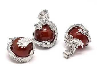 Dragon - red Agate (Protection) pendant