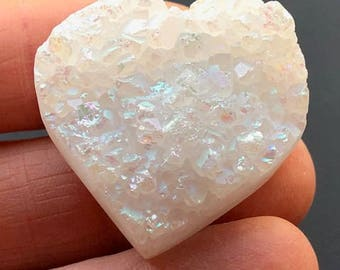 Beautiful Heart Shape Aura Anandalite™ ~ Rainbow Quartz Crystal from India ~22gm