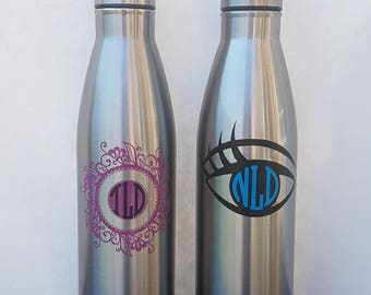 Customized Monogram Stainless Steel Water Bottle