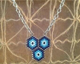 Pendant with chain peyote MIYUKI beads