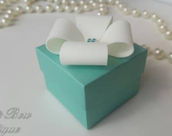 Tiffany blue favor box - wedding bonbonniere - blue favor box - tiffany blue wedding favor box - tiffany blue favors - tiny gift box