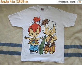 CANADA 150 SALE Vintage 90s The Flinstones Pebbles and Bamm Bamm T-Shirt