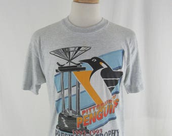 Vintage 90s Pittsburgh Pittsburgh Starter 1993 Presidents Trophy Size Large Gray