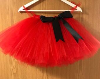 Flower girl tutu, red tutu, tutu skirt, Christmas wedding tutu, tulle skirt,  bridesmaid tutu, floor length tutu, ballet tutu, gre