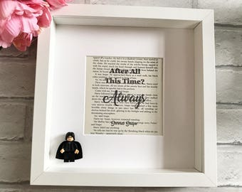 Harry Potter Frame | Severus Snape Gifts | Alan Rickman | After All This Time | Professor Snape | Severus Snape Always | Snape Print | Snape