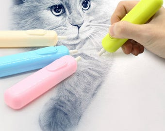 Electric Eraser Battery Operated with 20 Eraser Refills