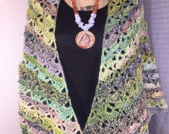 Handmade Floral Crochet Shawl