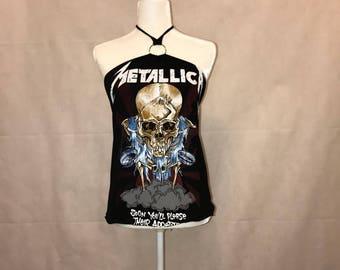 Rock Couture Top Metallica Halter Top Size XS S M