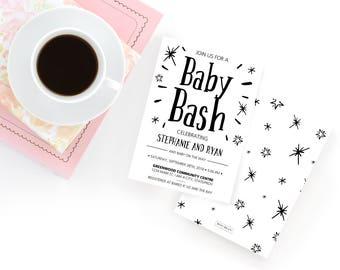 Baby Bash Baby Shower | Baby Shower Invitation | Jack and Jill | Baby Shower | Couples Shower | Baby Bash Shower  | Rustic Baby Shower