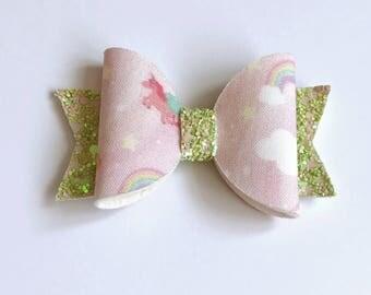 Medium pink sky dolly bow