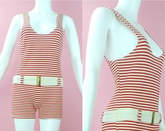 RARE 1930s/1940s Striped Bathing Suit
