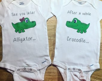 See You Later Alligator Onesie Twin Set