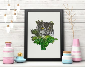 Woodland Nursery, Nursery Decor, Nursery Wall Art, Woodland Decor, Owl Print, Woodland Wall Art, Printable Art, Instant Download, Owl Art
