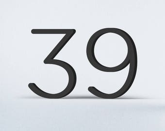 Flat Cut Acrylic House Numbers - Gotham Rounded Light