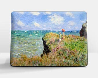 "Laptop skin (Custom size). Claude Monet, ""Cliff Walk at Pourville"". Laptop cover, HP, Lenovo, Dell, Sony, Asus, Samsung etc."