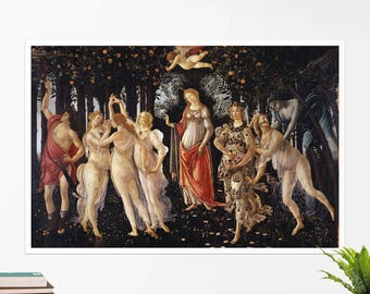 "Sandro Botticelli, ""Primavera"". Art poster, art print, rolled canvas, art canvas, wall art, wall decor"