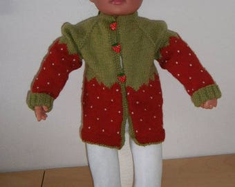 Baby jacket with Strawberry motif Gr. 60/62